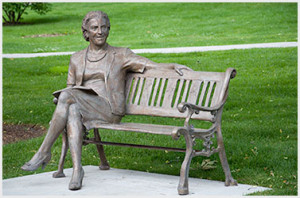 Aunt Em on Bench